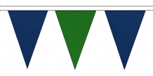ROYAL BLUE AND MID GREEN TRIANGULAR BUNTING - 10m / 20m / 50m LENGTHS